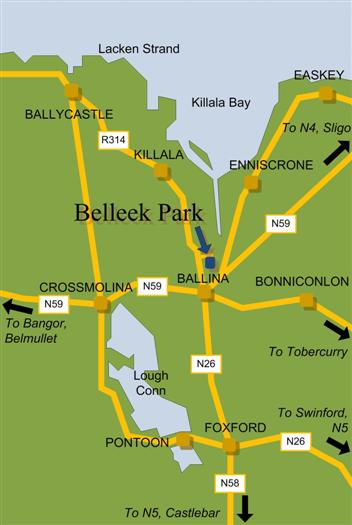 Ballina/Killala area road map